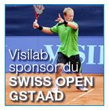 Tennis & vidéo pour la société Visilab durant l'Open de Gstaad