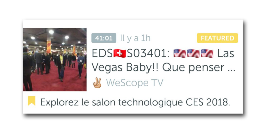 wescope tv en featured sur Periscope